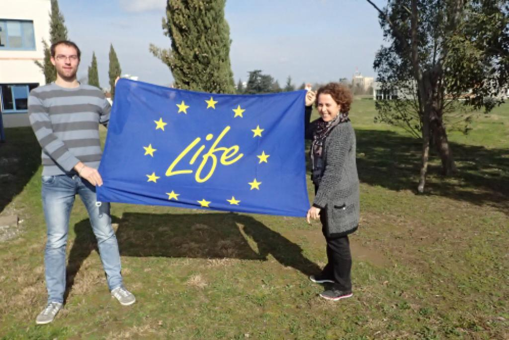 Emile et Rachel, fiers de rejoindre l'équipe du LIFE ! © L. Hatterley