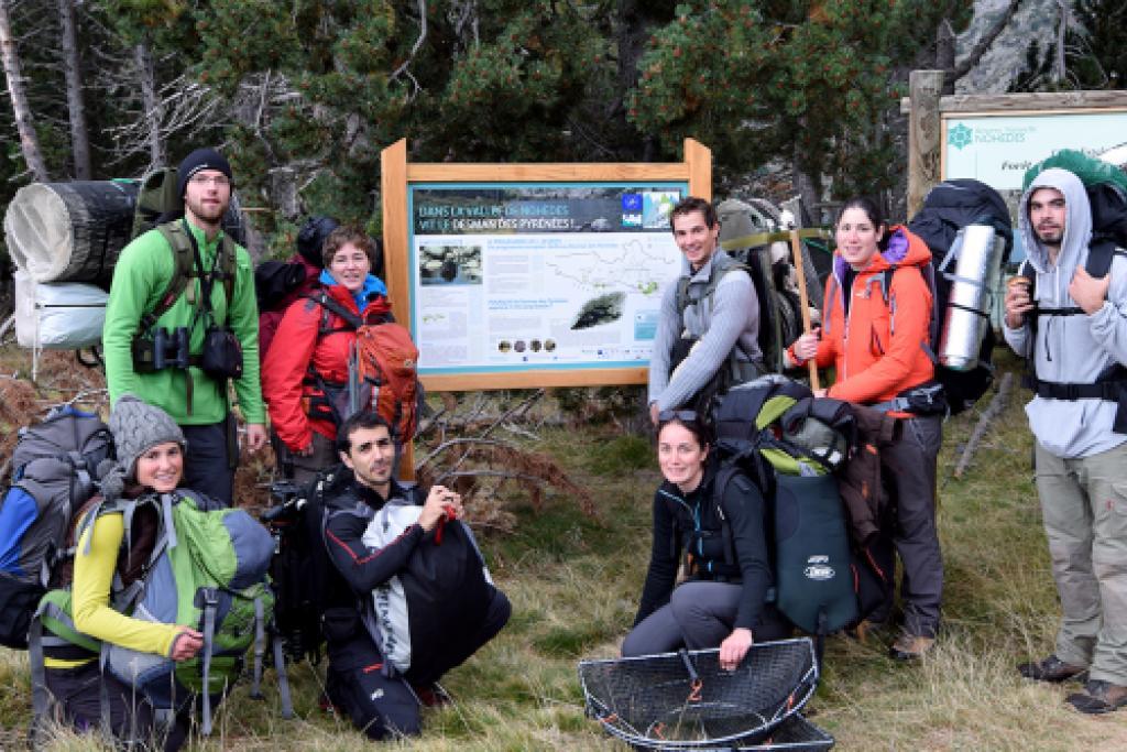 L'équipe Desman dans la réserve de Nohèdes © Martin Johansen